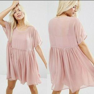 Asos Pink Smock Dress